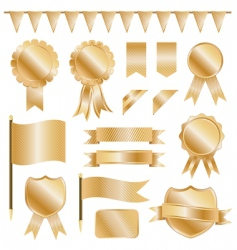 gold decorations vector image vector image