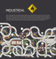 Industrial technologic poster vector