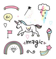 magic colorful set vector image vector image