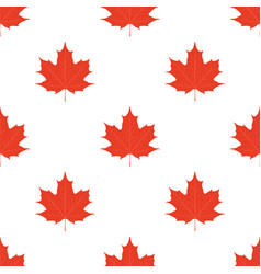 maple leaves seamless pattern leaf in flat style vector image vector image