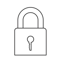 monochrome silhouette of padlock icon vector image