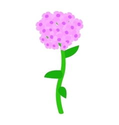 Pink hydrangea icon isometric 3d style vector image