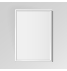 Realistic white vertical frame for paintings vector