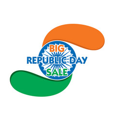 Republic day sale banner design vector