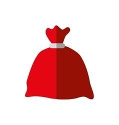 Santas bag merry christmas icon graphic vector