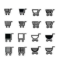 Shopping cart icons design vector