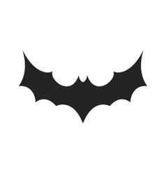 Simple black bat icon vector image