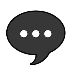 Speech bubble solid icon vector