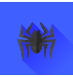Spider grey silhouette long shadow vector