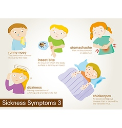 Symptoms of sickness vector