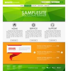 Template web site vector