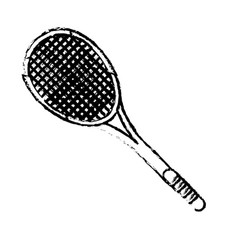 Tennis racket sport icon sketch vector