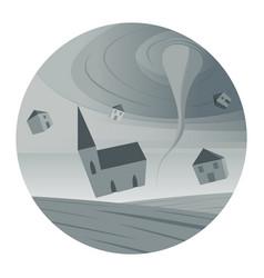 Tornado round icon vector