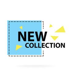 Trendy modern geometric sale badge labels vector