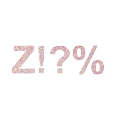Varicolored symbols Z vector image
