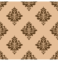 Vintage wallpaper design of floral arabesques vector