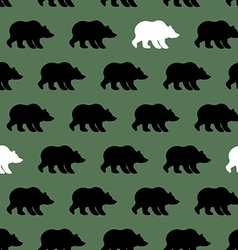 White Bear and Grizzly seamless pattern Background vector image