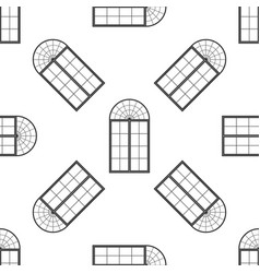 Window icon seamless pattern on white background vector