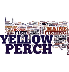 Yellow perch text background word cloud concept vector