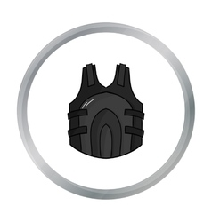 Paintball vest icon in cartoon style isolated on vector