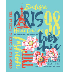 Boutique paris fashion vector