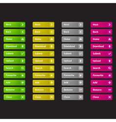 Web buttons template vector