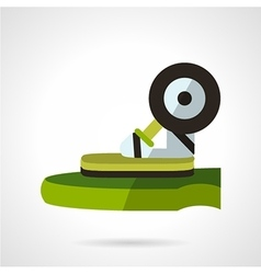 Longboard store flat icon vector