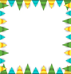 Bunting garland frame vector
