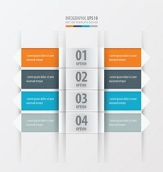 Rectangle and arrow banner orange blue gray color vector