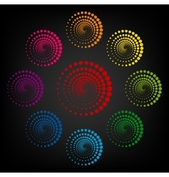 Abstract technology circles vector