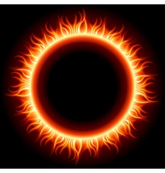Abstract burning sun vector image