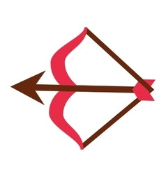 Arch arrow cupid icon vector