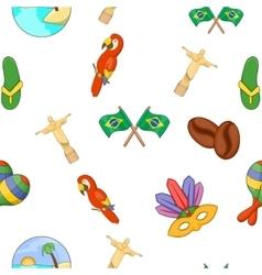 Brazil pattern cartoon style vector