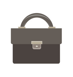 briefcase icon business bag black case design vector image