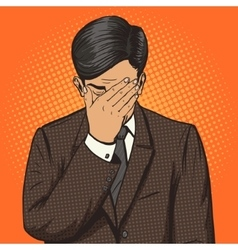 Businessman with facepalm gesture pop art vector