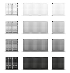 cargo container 007 vector image vector image