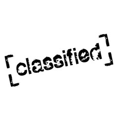 Classified sticker stamp vector