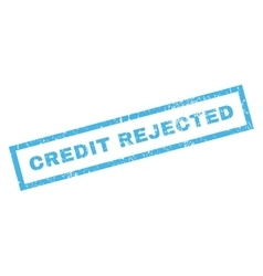 Credit rejected rubber stamp vector
