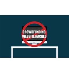 Crowdfunding website hacked vector