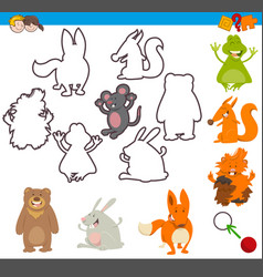 Educational activity with animal vector