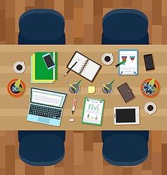 Empty workspace vector image