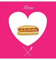 hot dog menu cover vector image vector image