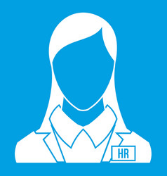 Hr management icon white vector