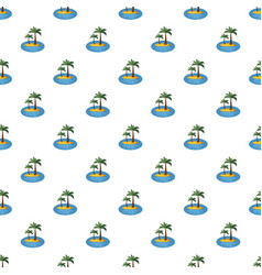 Island with palm trees pattern vector