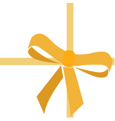 Isolated yellow ribbon vector