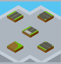 Isometric way set of footpassenger rotation vector