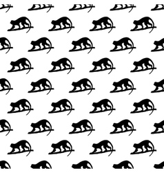 Monkey pattern seamless vector image