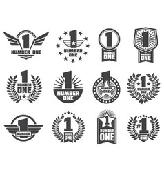 number one retro corporate identity logos vector image