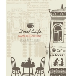 outdoor cafe menu vector image