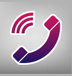 Phone sign purple gradient vector